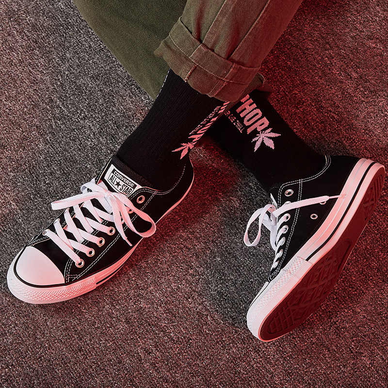 11f15182fa4 ... Original Converse ALL STAR Classic Breathable Canvas Low-Top  Skateboarding Shoes Unisex Authentic New Version