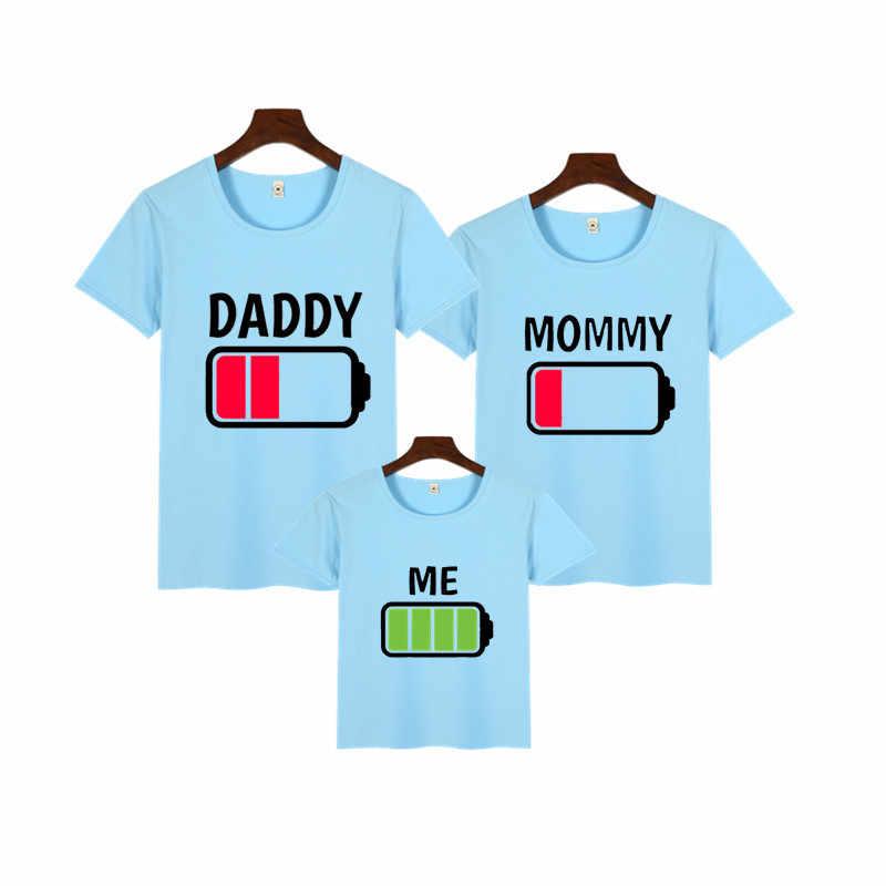 สำหรับครอบครัว Matching Outfits เสื้อผ้าพ่อลูกสาวแม่เสื้อยืด Daddy Mommy และ Me Baby Girl Boy เสื้อผ้า