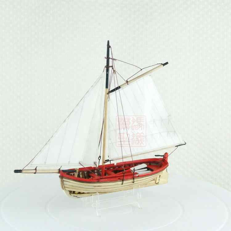 NEW Scale 1/50 Lifeboat model ship Working boat laser cut wood sailboat Children education toys