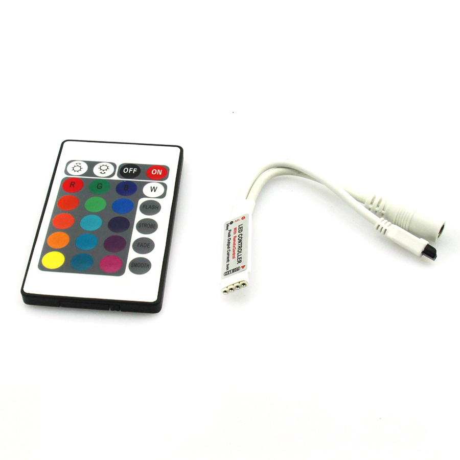 24 Keys Mini RGB Remote Controller DC12V For SMD3528 5050 3014 LED RGB Strip Lights Mini