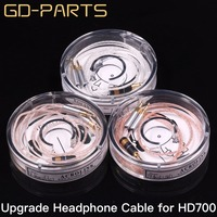 GD PARTS 1.2m Headphone Upgrade Cable Teflon Silver OCC Headset Wire 5N Earphone Cable For Hifi HD700 8 Cores 7 Strandsx0.1mm