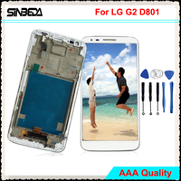 Sinbeda 5.2 LCD Display For LG G2 D801 D803 D800 LS980 F320 VS980 Black or White LCD Display Screen +Touch Digitizer Assembly