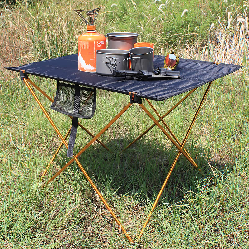 Outdoor Camping Table Camping Aluminium Alloy Picnic Table Waterproof Ultra-light Durable Folding Table Desk