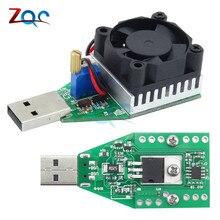15W DC 3 V 21 V Elektronik Test Yük direnci USB Arayüzü Akü Deşarj Kapasitesi Test Cihazı Fanı ayarlanabilir Akım Modülü