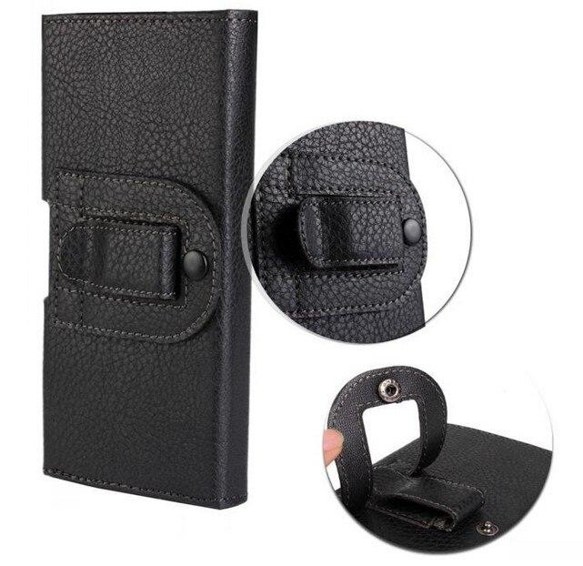 Nueva smooth/bolsa del cuero del patrón de lichee belt clip bolsa para huawei ma