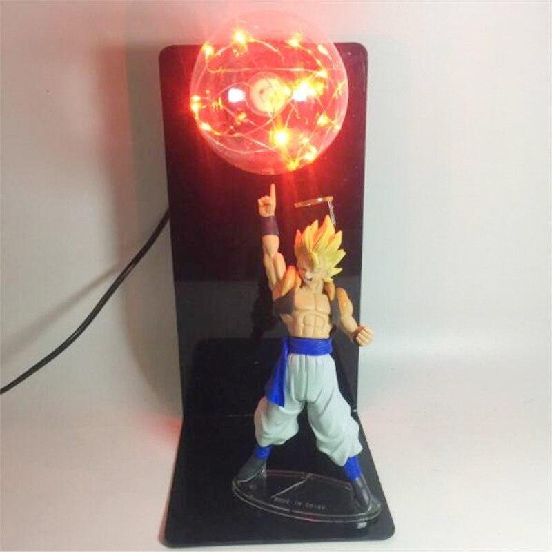 Stand up Dragon Ball Cartoon Son Goku Character Table Lamp 5 Color Bulb Optional AC110V 220V