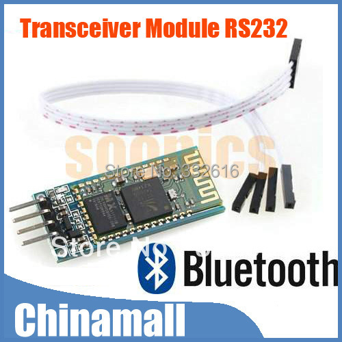 HC-06 Wireless Serial 4 Pin Bluetooth RF Transceiver Module RS232 TTL for Arduino Free Shipping + Drop Shipment