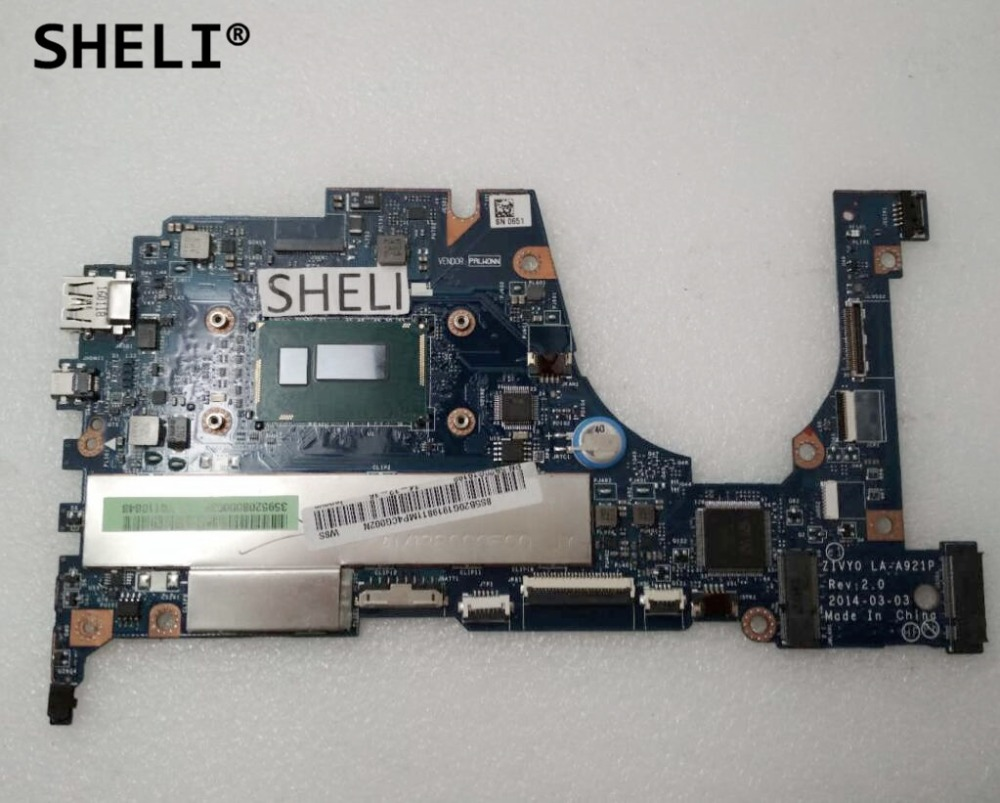 SHELI For Lenovo Yoga 2 13 Motherboard with I5 4210U LA A921P 8G 5B20G19198