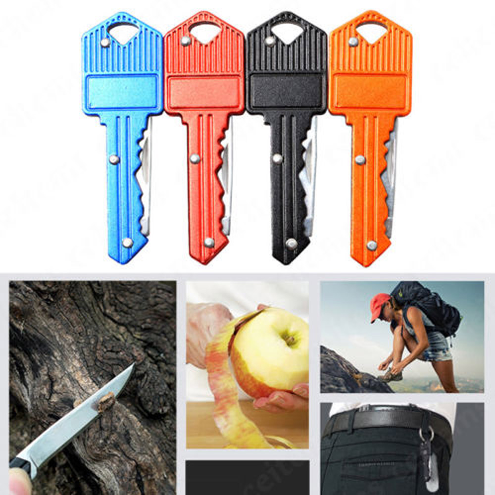 Keyring Ring Mini Key Knife Multi Fruit Blade Keychain Fold Pocket Box Package Camp Peeler Outdoor Letter Open peeling Survive image