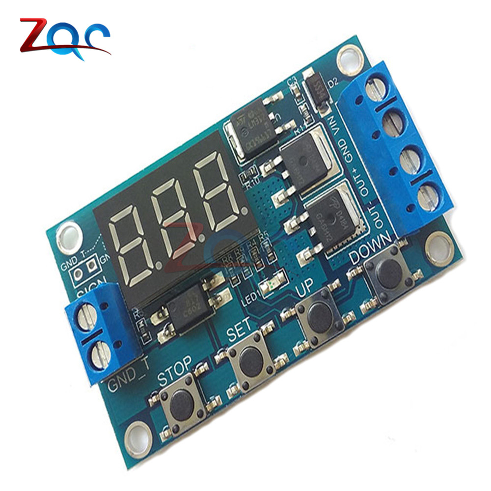 Trigger Cycle Timer Delay Switch 12 24V Circuit Board Dual MOS Tube Control Module dc 12v led display digital delay timer control switch module plc automation new