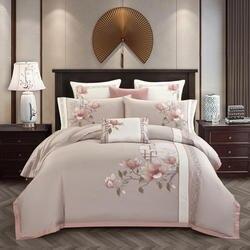 Luxury Egyptian Cotton Classical Bedding set Queen King size Chic Embroidery Bed set Bed sheet set Pillowcase parrure de lit