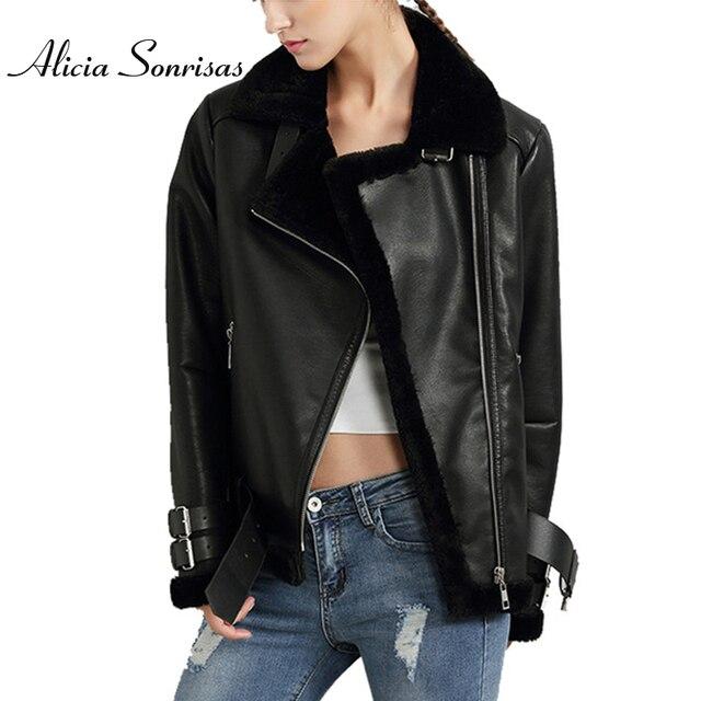 블랙 레드 여성 가죽 베르베르 스웨이드 양모 코트 빈티지 오토바이 두꺼워 재킷 인공 모피 따뜻한 코트 U306111