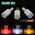 2pcs PY21W P21/5W S25 BAY15D 1157 27SMD 5050 LED bulb White/Red/Yellow lamp car brake lights rear lights stop lights