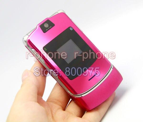 Оригинальный Motorola RAZR V3i мобильный сотовый телефон Unlocked Восстановленное мобильных телефонов и 10 видов цветов