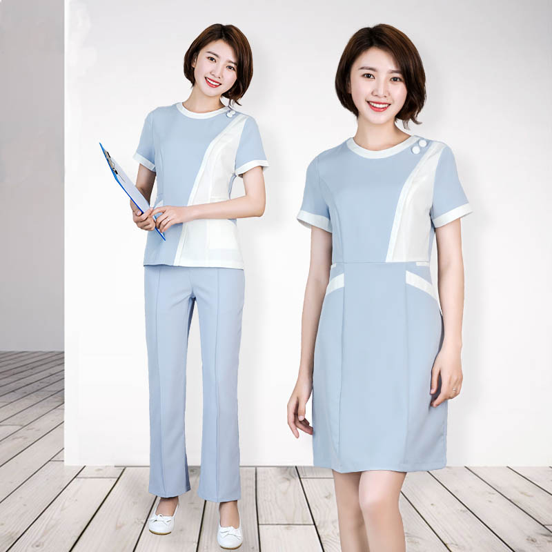 New Summer Short-sleeved Korean Nurse Uniforms Beauty Salon Dental Clinic Hospital Workwear Overalls Medical Clothing Sets