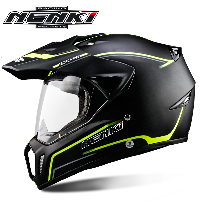 цена на NENKI Men's Motocross racing Full Face Helmet Adventure Downhill DH Racing motorcycle Moto DOT Helmet