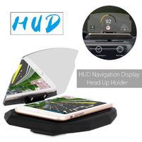 自動車電話ホルダースタンド携帯電話サポートウインドスクリーンプロジェクター hud ヘッドアップディスプレイのため 6.5 ''携帯電話用サムスン d20