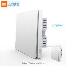 New Xiaomi Aqara Smart Light Control ZiGBee Wall Switch Via Smarphone APP Remote By Mijia APP