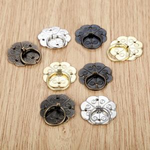 5Pcs Antique Quincunx Drawer Cabinet Desk Door Pull Handle Knob Furniture Hardware With 20Pcs Nails