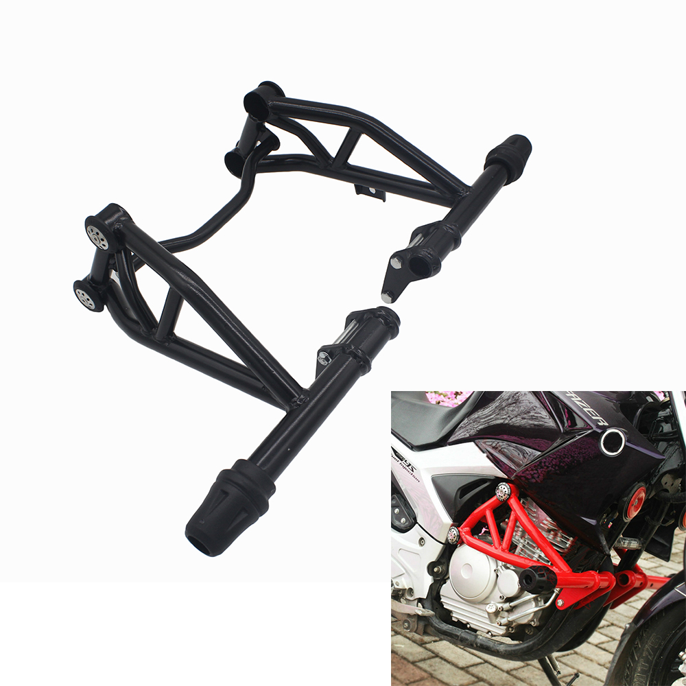 Competitive Bumper For Yamaha <font><b>Fazer</b></font> YS250 YBR250 YS <font><b>250</b></font> Engine Protetive Guard Crash Bar Protector Front <font><b>Sliders</b></font> Guard Bar image
