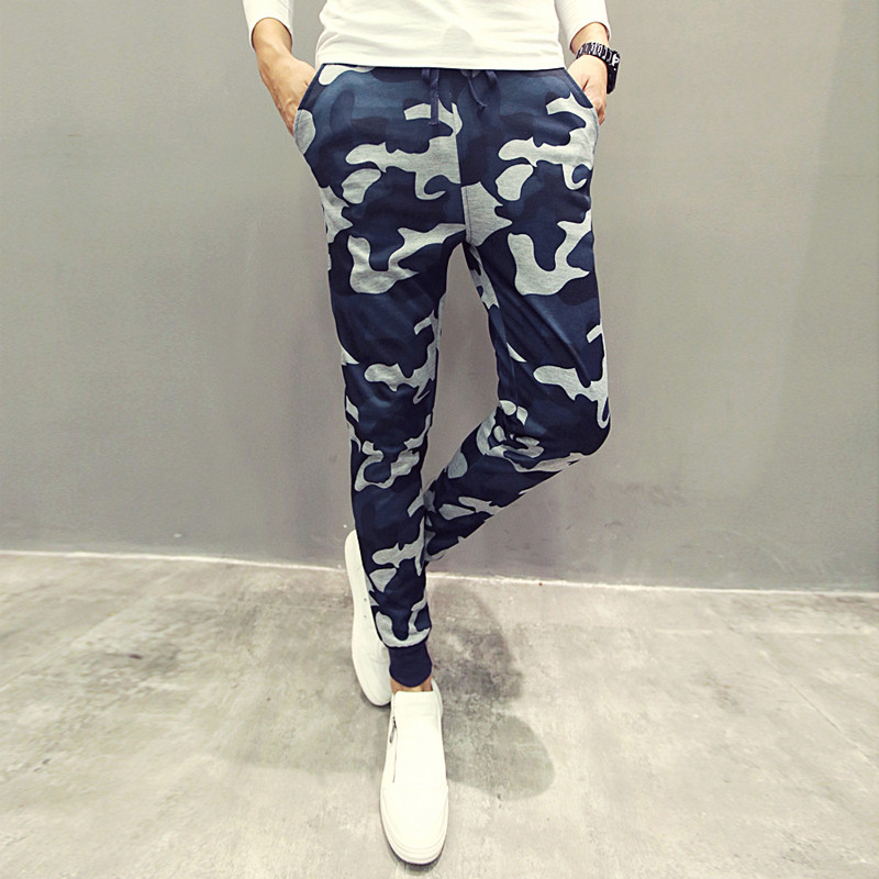 Euro Size Mens Joggers Pants New Hip Hop2016 Men Pants Camouflage Pencil Pants Skinny Sweatpants Trousers Man Camo Joggers