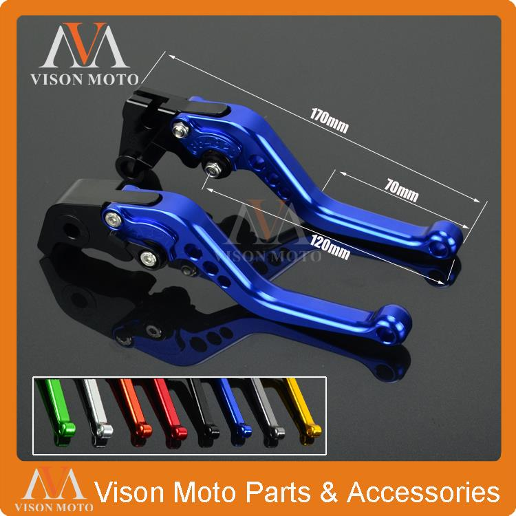 CNC Short Pivot Brake Clutch Levers For Yamaha FZ6 FAZER FZ6R FZ8 MT07 MT-07 FZ07 FZ1 FAZER XJ6 Diverson MT09 MT-09 SR FZ09 new brake clutch levers cnc adjustable motorbike lever for yamaha fz6 fazer fz6r fz8 mt 07 fz 7 mt 09 sr fz9 fz1 fazer fazer xj6