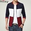 HCXY Марка Мужчины Куртка 2016 весна Осень зима Мода Одежда из ткани высокого качества хлопка Куртки Мужчин Slim куртка Большой размер