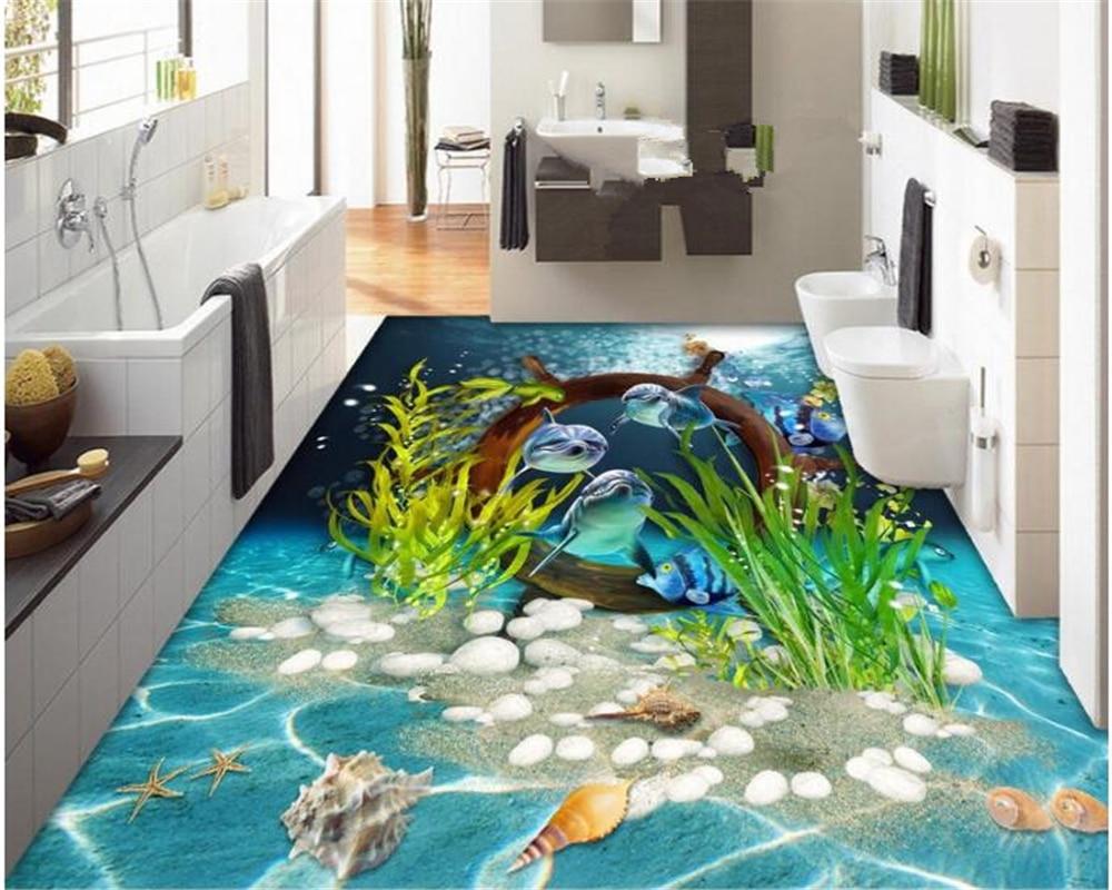 Beibehang Fashion Wallpaper Definition Creative Shellfish Dolphin