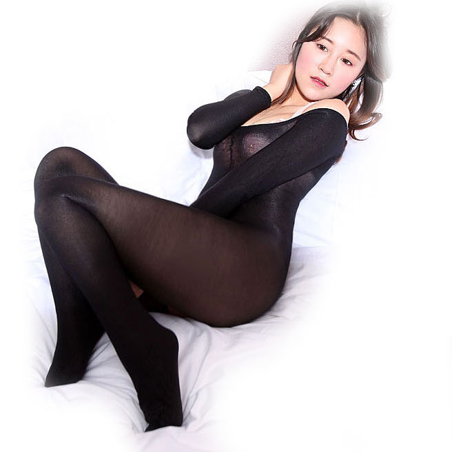 Image 5 - 70D Shining Shaping Bodyhose open crotch boat neck dance Body stockings Women & Men's shape & control Leotard &Bodysuits-in Teddies & Bodysuits from Novelty & Special Use
