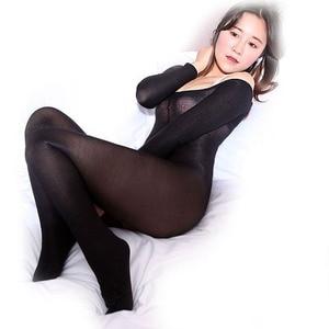 Image 5 - 70d brilhando shaping bodyhose aberta virilha barco pescoço dança corpo meias feminino & masculino forma & controle collant & bodysuits