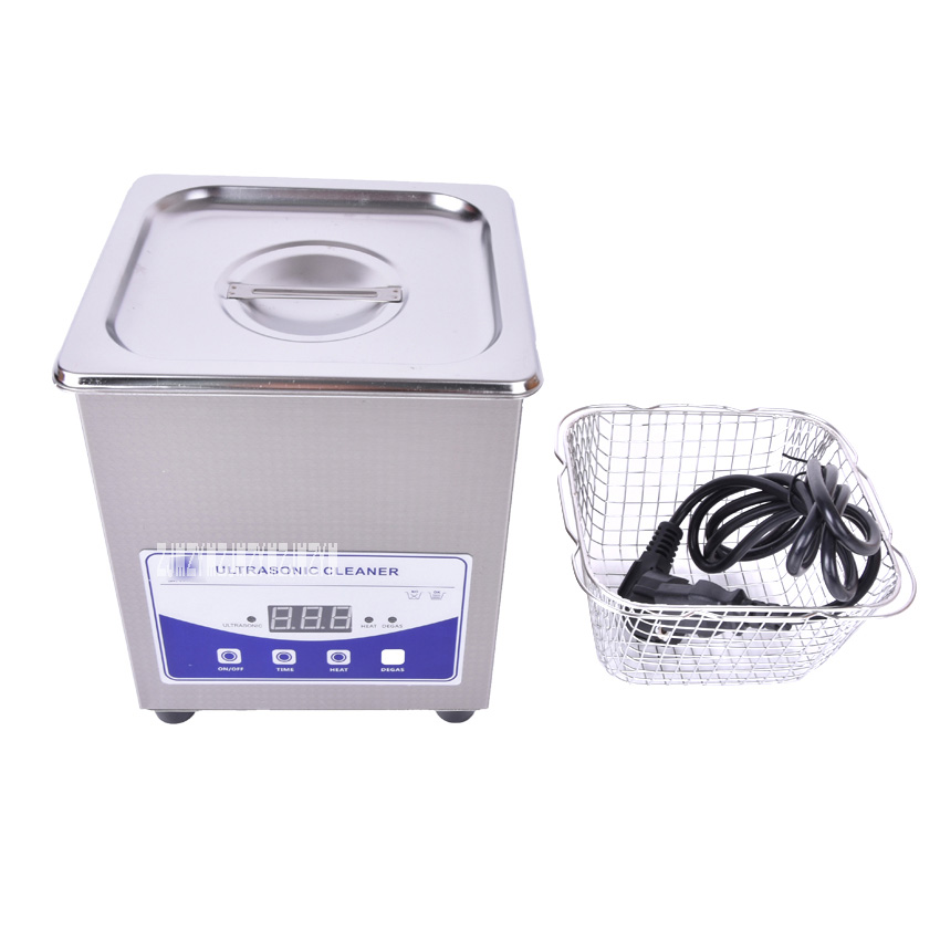1pc 2L-220V digital husholdning ultralydsrens (JP-010T) for glass Jødisk barbermaskin PCB rengjøring, Ultrasonic Cleaning Machine