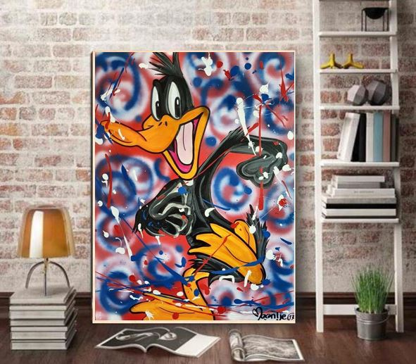 Graffiti Bedroom Art Paint Colors For Bedroom Youth Bedroom Sets Simple Little Boy Bedroom Ideas: Hand Painted Graffiti Pop Brainwash Art Alec Monopoly On