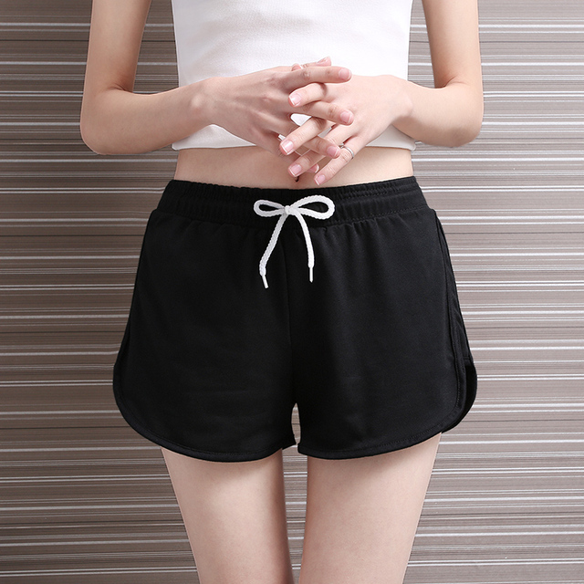 Yichaoyiliang Women Solid Colors Elastic Waist Shorts Cotton Female Bottom Shorts for Women Puls Size Casual Loose Booty Shorts