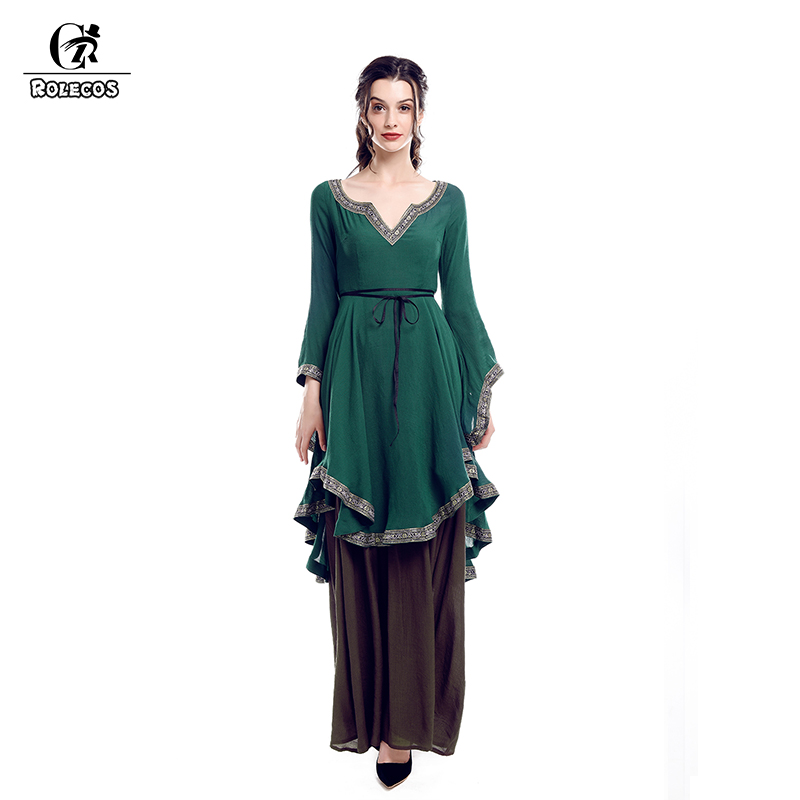 Renaissance Dress Plus Size: ROLECOS Renaissance Retro Dress For Women Victorian Long