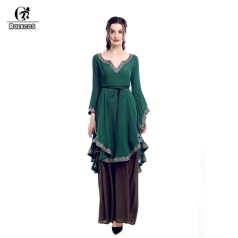 Medieval Dress Plus Size: ROLECOS Renaissance Retro Dress For Women Victorian Long