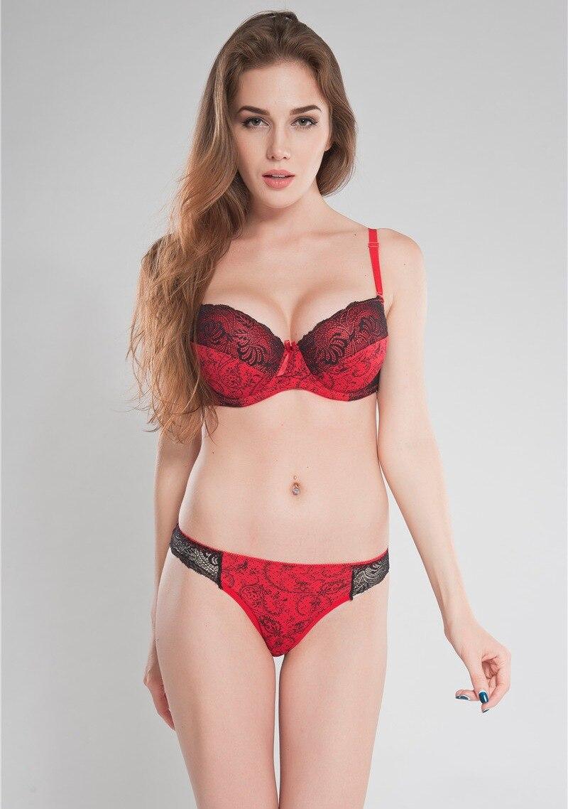 86f3b28e12b73 Big Size 34 36 38 40 D DD E Cup Black Intimate Lingerie Set Lace ...
