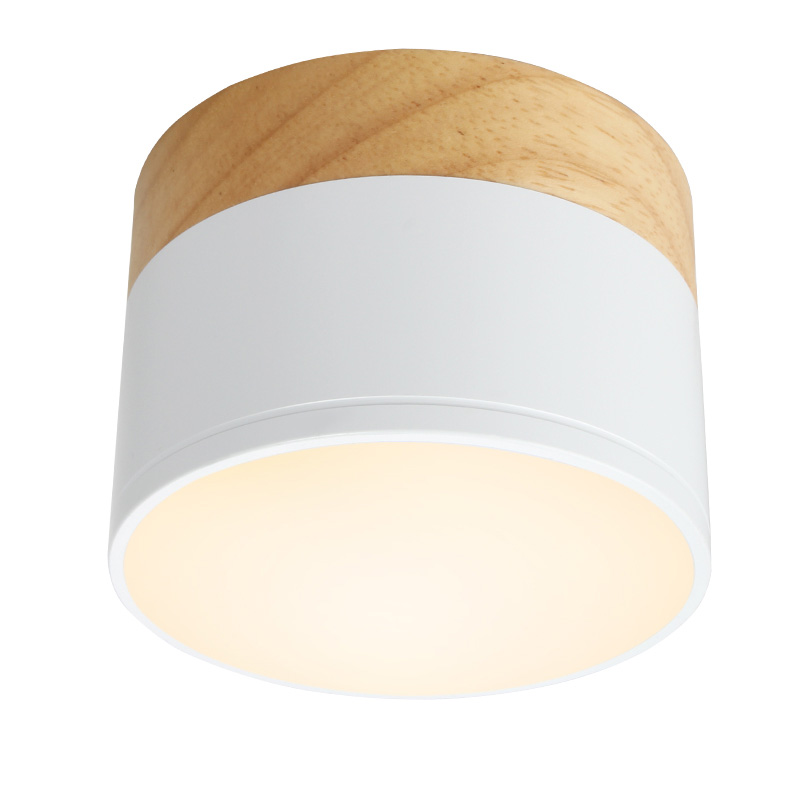 Aisilan LED downlight Wood ceiling spot light for ceiling lamps Lighting Fixtures led 5W spot light modern wood living light in Downlights from Lights Lighting