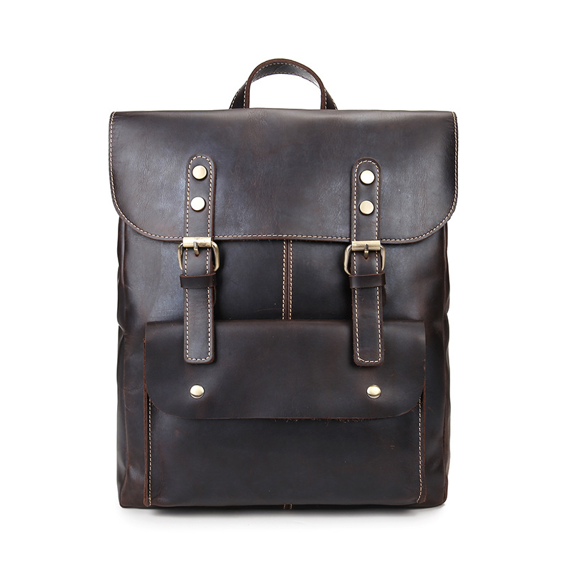 Genuine Leather Men Backpack Bolso Mochila Cowhide Leather Laptop Computer Bag School Bags for Teenage Boys Casual RucksackGenuine Leather Men Backpack Bolso Mochila Cowhide Leather Laptop Computer Bag School Bags for Teenage Boys Casual Rucksack