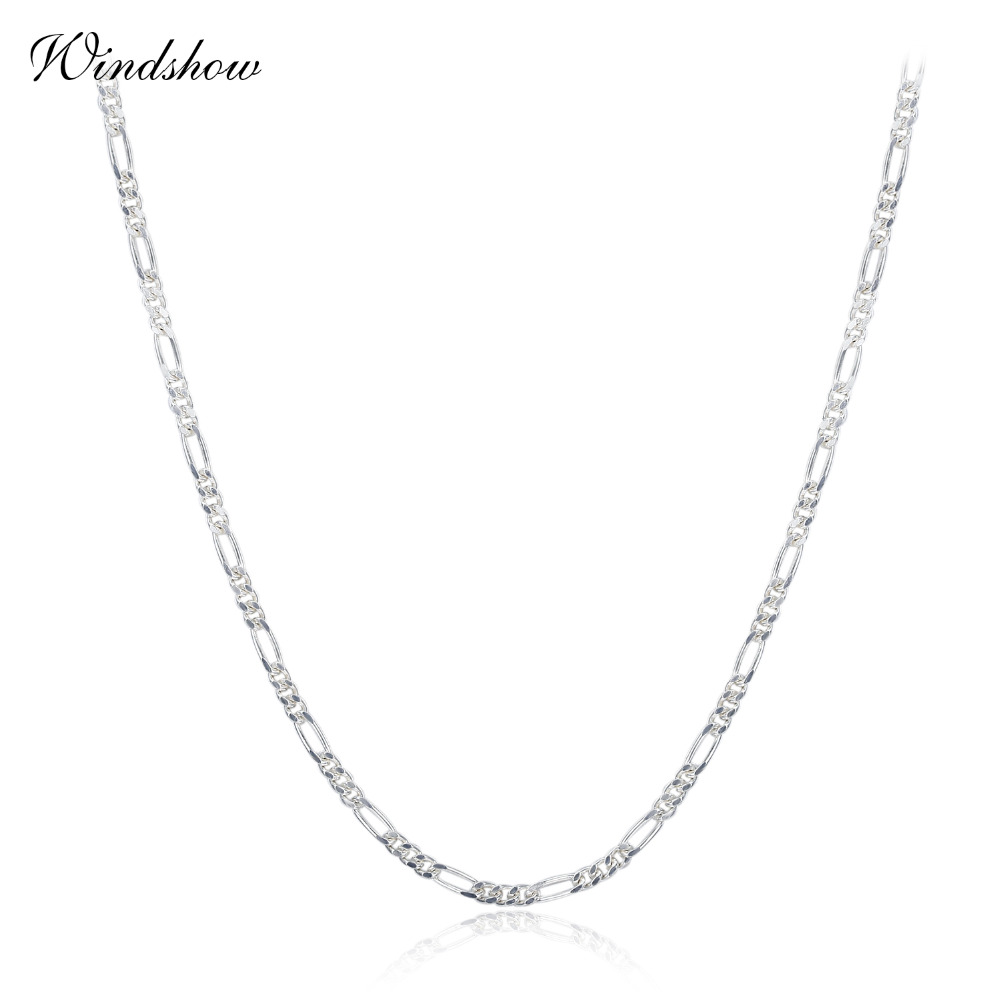Sterling Silver 1.5mm Italian Long Link Curb Chain Necklace NICKEL FREE