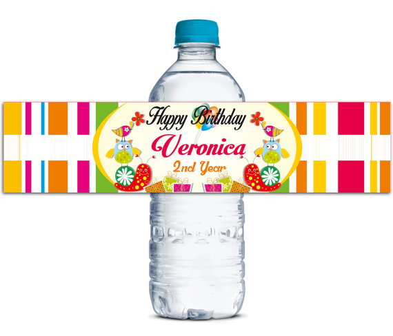 48x Personalized Water Bottle Labels Baby Shower Birthday font b Favors b font Gifts Tags Personalised