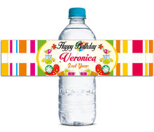 48x Personalized Water Bottle Labels Baby Shower Birthday Favors Gifts Tags Personalised Candy Stickers Customized Family Name