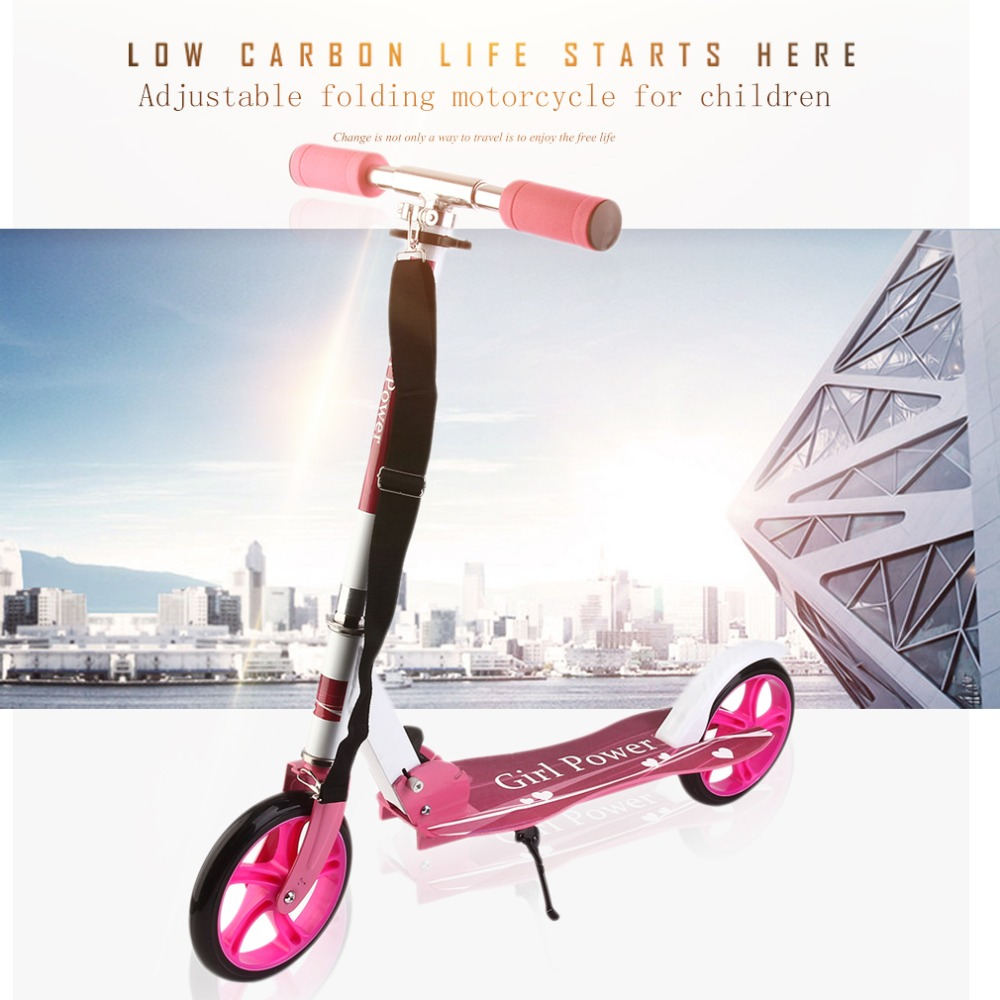 Lightweight Children Kids Scooter Adjustable Folding Scooter Roller Outdoor 2 Wheels Scooter Foot Scooter For Kids Best Gifts scooter