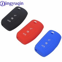 jingyuqin 3 Buttons Remote Flip Folding Modified Car-Styling Key Fob Cover Case For Ford Focus Fiesta C Max Ka