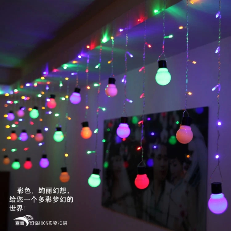 48 Pcs Led Lights + 10pcs Ball Lamp String Holiday Party Decorations Light  For Christmas Courtyard Room Decor 0.5M*1.5M Fashion In LED String From  Lights ...