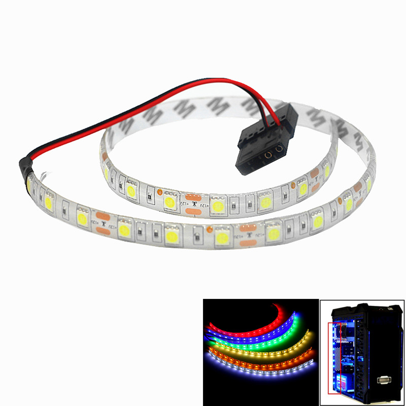 led lights for pc case 5050 SMD Flexible LED Strip Light 12V DC Background PC Computer Case Adhesive tape Light white blue redled lights for pc case 5050 SMD Flexible LED Strip Light 12V DC Background PC Computer Case Adhesive tape Light white blue red