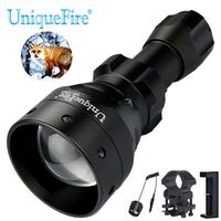 UniqueFire 1503 XML T6 LED Flashlight Waterproof White Light Torch with USB Charger,Tactical Remote Switch and Scope Mount