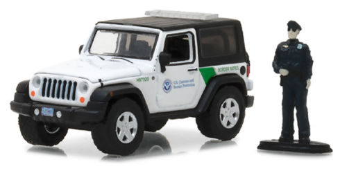 Green Light 1 64 2016 Jeep Wrangler Us Customs And Border Alloy Toy