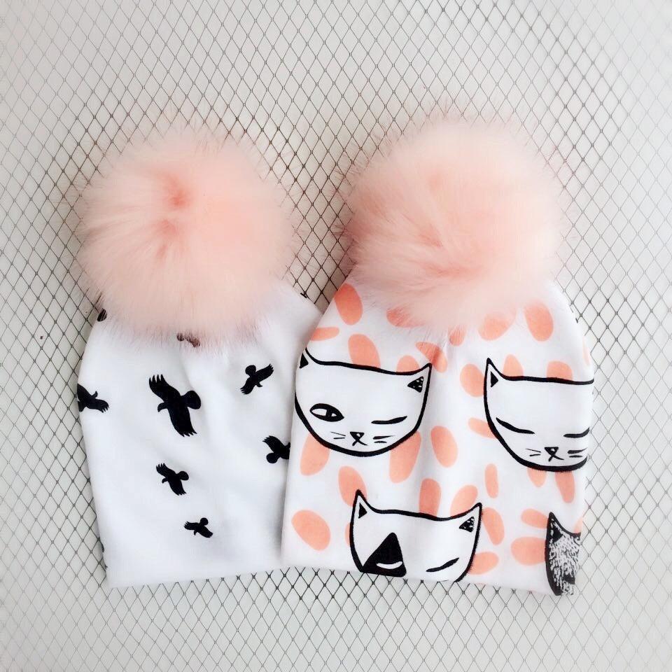 Fashion Newborn Baby Set Children Hat Cap For Girls Boy Baby Born Care Infant Toddler Hats Bonnet Skull Beanies Props For Kids