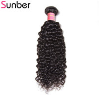 Sunber Hair 1 Bundle Brazilian Curly Hair Weaving 8 26 Inch Natural Black Can Be Mixed Length 100g/pc Remy Hair Weft