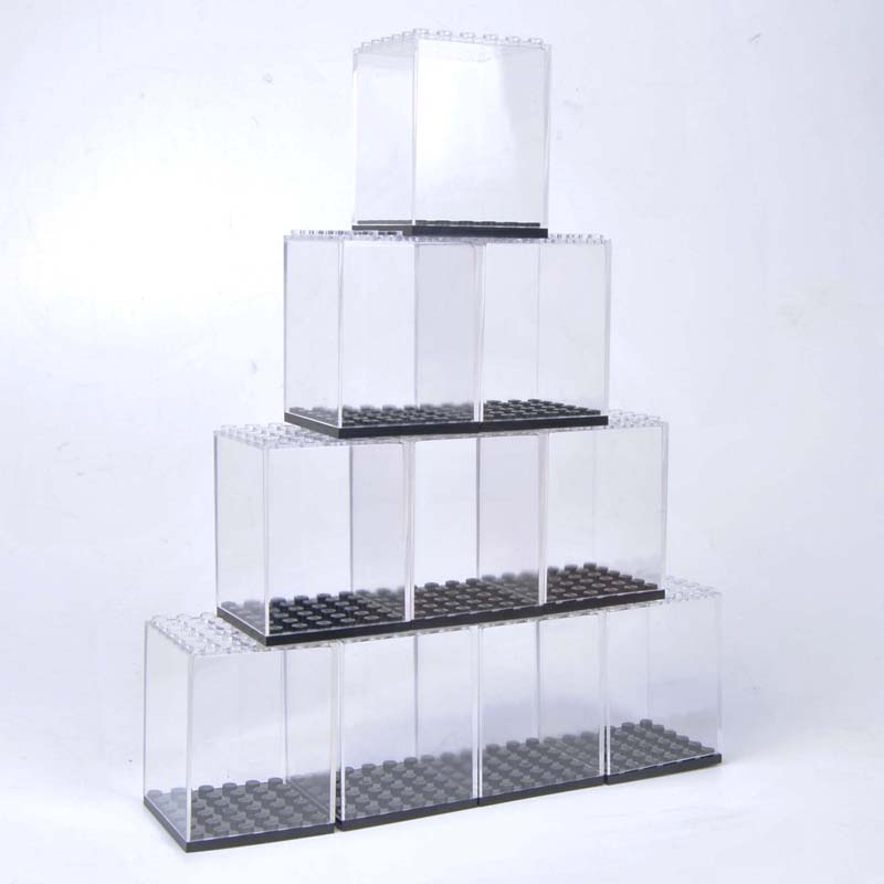 Image 4 - Display case / dust proof / Assembly box case shop window base for legoes acrylic blocks display plastic case-in Blocks from Toys & Hobbies